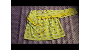 МК по пошиву блузы детской с рюшей