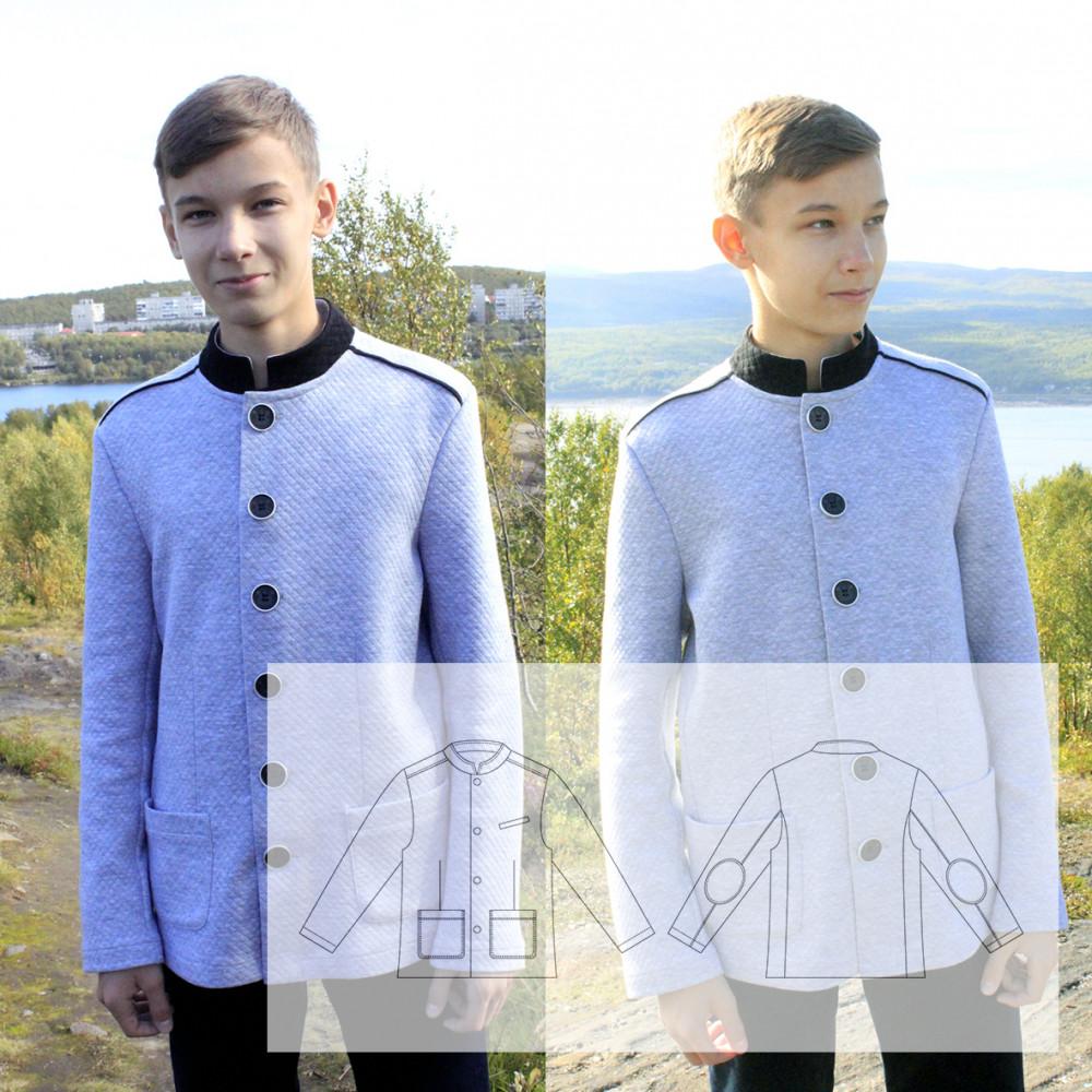 Пиджак со стойкой