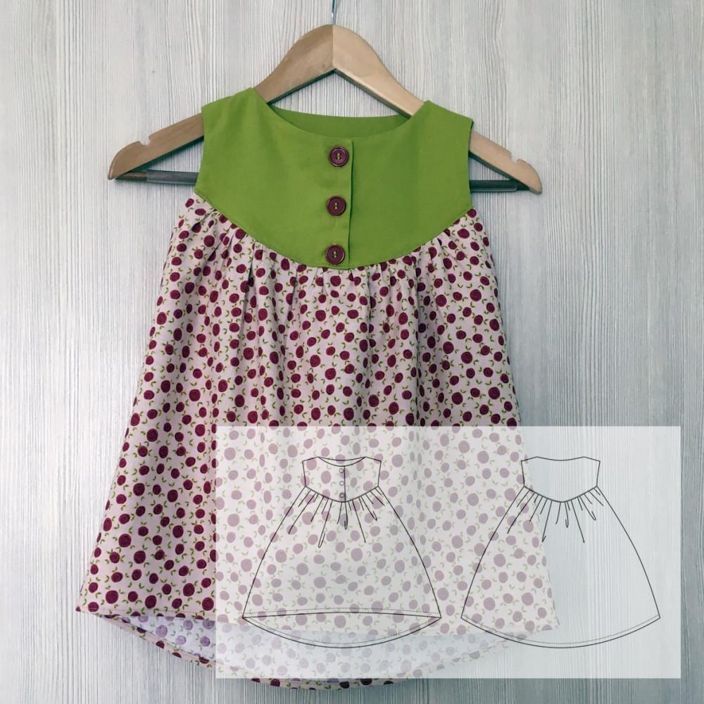 Платье с полукруглой кокеткой